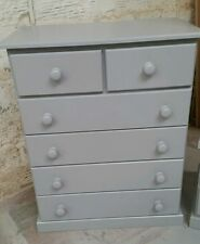 OLD MILL FURNITURE CAMDEN GREY 4+2 DRAWER CHEST NO FLAT PACKS