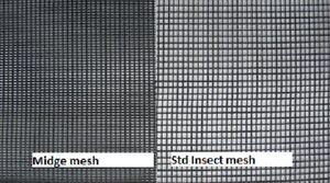 Midge Flyscreen Mesh 610mm x 2M 20x25 Sandfly Super Fine Caravan Windows Doors