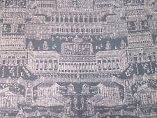 Zoffany Curtain Fabric 'ROME' 3.4 METRES (340cm) Charcoal/Linen - 100% Linen