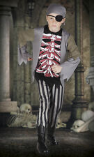 Chicos pirata Brad Huesos Disfraz Traje Elegante Halloween Espeluznante tenebroso esqueleto