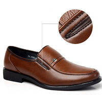 Men's Business Dress Leather Shoes Slip On Work Dress Oxfords Casual Loafers
