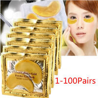 200pcs Gold Crystal collagen Eye Mask Hotsale eye patches 200pcs=100 pack