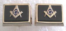 Vintage Mason Freemason Emblem Cuff Links Cufflinks - Very Nice!