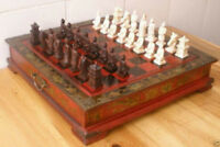 Collectibles Vintage 32 Pieces chess set with wooden AAA+++