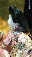 Vintage Japanese Hina doll in Kimono Geisha Plush Figure Emperor doll 9 inch A