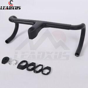 LEADXUS Aero Carbon Fiber Integrated Handlebar Road Bicycle Handlebar 28.6mm