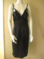 Dina Bar-el Sz12 vintage black sleek silk gown 1920s'-30s' lined 100% silk NWT
