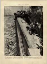1892 Chelsea terraplén Galante escritura del capitán Lovett rescates Boy