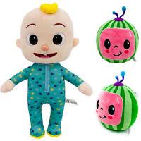 Cocomelon JJ Boy Watermelon Stuffed Plush Doll Educational Toy Kid Birthday Gift