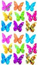 ~ Butterflies Butterfly Blue Yellown Green Pink Hambly Studio Glitter Stickers ~