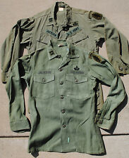Two Wartime Special Forces Badged Uniform Tops