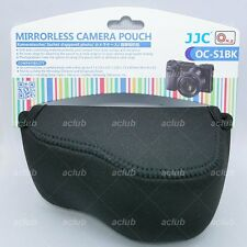 JJC OC-S1BK Black Neoprene Camera Pouch Case for Mirrorless With Pancake Lens