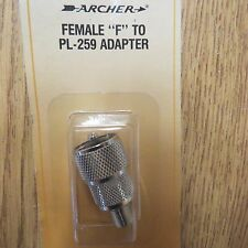 COAX ADAPTER UHF MALE PL-259 PL259 TO F FEMALE RF CONNECTOR NEW Archer