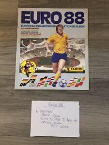 Panini Euro 88 Germany European Championship Sticker Album. 6 stuck in. VGC