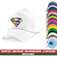 Superman Pride Baseball Cap Rainbow Glitter Gay LGBT Festival Party Gift Hat
