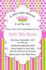 30 Invitations Princess Pink Fuchsia Mint Green Baby Girl Shower Birthday A1