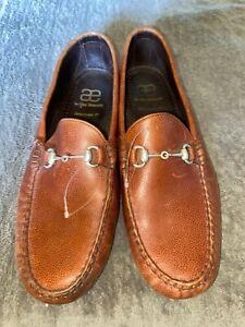 Allen Edmonds INTERSTATE 80 Moc Toe Brown Loafer Shoes Men's SZ 11.5 EEE