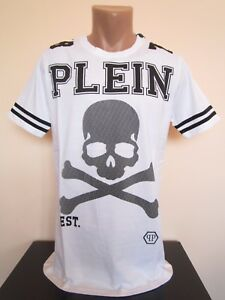 brand NEW men PHILIPP PLEIN white t-shirt Size L