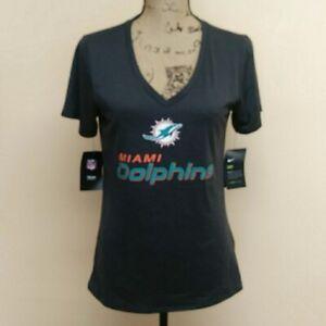 NEW Nike Miami Dolphins Shirt Women's Small Gray NFL Football Ladies