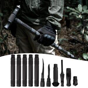 Hiking Sticks Multifunctional Trekking Outdoor Pole Travel Cane Stick Survival