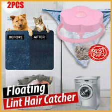 2Pc Portable Floating Pet Fur Catcher Reusable Hair Remover Tool Washing Machine