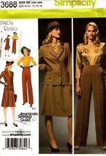 Simplicity Sewing Pattern 3688 Misses Blouse Skirt Pants Jacket Size 20W-28W NEW
