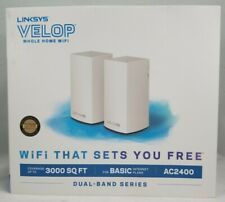 Linksys Velop Dual Band Whole Home Intelligent WiFi Mesh System - 2 Pack VLP0102