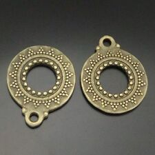 Antique bronze charms pendants circle round 30pcs 04639