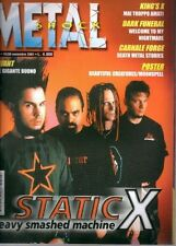 METAL SHOCK N°347/2001 STATIC X KING'S X DARK FUNERAL CARNAL FORGE