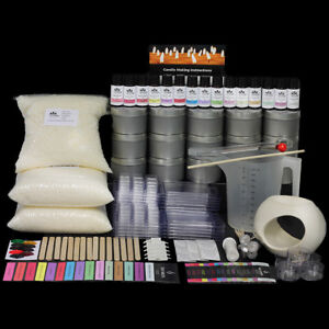 Giant Soy Candle Making Kit With 15 Fragrances, Tins, Labels & BONUS Melt Warmer