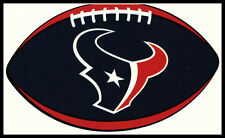 HOUSTON TEXANS OVAL FOOTBALL NFL DECAL STICKER TEAM LOGO~BOGO 25% OFF