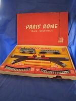 W359 JOUEF HO COFFRET PARIS ROME TRAIN MECANIQUE LOCOMOTIVE 9004  BON ETAT