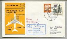 FFC 1966 Lufthansa PRIMO VOLO LH 280 Boeing B727 - Berlino Amsterdam