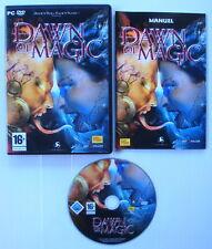 Jeu PC Dawn Of Magic très bon état complet avec notice
