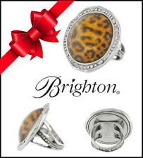 BRIGHTON TRINITY LEOPARD RING with SWAROVSKI CRYSTAL Size 6 NWT