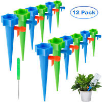 12Pcs Plant Self Watering Spikes Adjustable Automatic Drip Irrigation System US