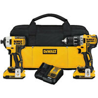 DeWalt DCK283D2R 20V MAX XR Cordless Drill/Impact Driver Combo Kit Reconditioned