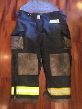 Firefighter Turnout Bunker Pants Cairns 44x28 Black Bib Halloween Costume