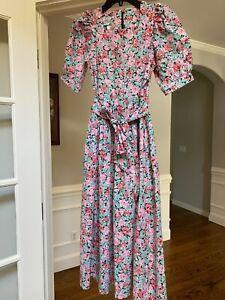 Laura Ashley Vintage Floral Cotton Dress Size 8
