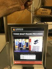 Snap-frame, backlit LED, double-sided, Letter-size, aluminum, wire hanging kit