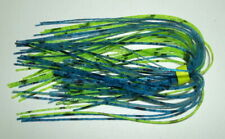 10 Custom Made Silicone Spinnerbait Skirts-(Snake Skin Blue/Chart.)-Bass Fishing