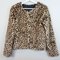 L'AMERICA | Revolve Womens Leopard Print Faux Fur Jacket  [ Size AU 10 or US 6 ]