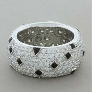Exceptionally Fun Eternity Band Featuring 4.14CT Round Pave CZ & Black Spinel