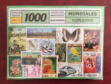 LOTE 1000 sellos DIFERENTES MUNDO ENTERO