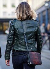 Barbara Bui Laced Perfecto Leather Jacket Burgundy 36 XS balenciaga acne