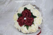 Wurfstrauss/Standesamt aus Rosen mit Bling, zum Brautkleid, Hochzeit, Neu
