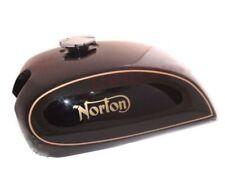 Norton 750 850 Interstate Commando Steel Black Painted Fuel Gas Tank + Cap ECs