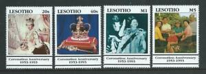 Lesotho SG1159-1162 1993 40th Anniversary of the Coronation Unhinged Mint