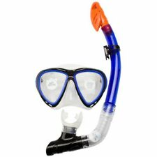 Waimea Senior Silicone Diving Mask with Snorkel Cobalt Blue 88DJ Snorkelling