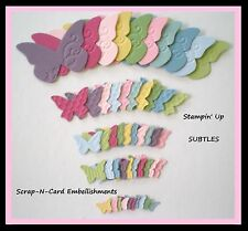 • • • Die Cuts ~ EMBOSSED BUTTERFLIES x50  - Stampin Up C/S  - Cards